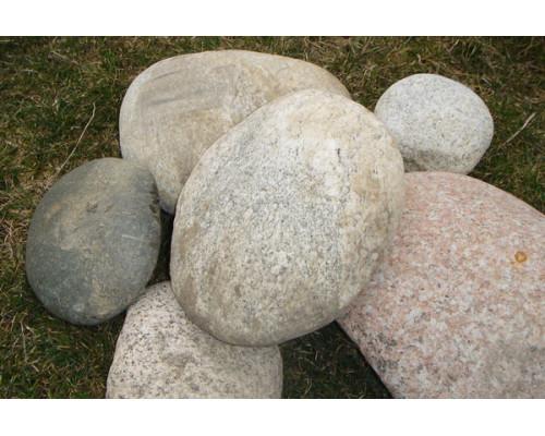 Округлый природный камень для ландшафта (Валун) фракция 250-400