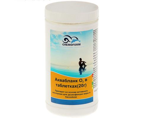 """Препарат дезинфицирующий без запаха """"Аквабланк О2"""" активный кислород в таблетках 20 г, 1 кг"""