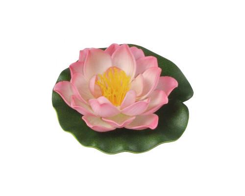 Кувшинка искусственная декоративная, 18 см, розовая