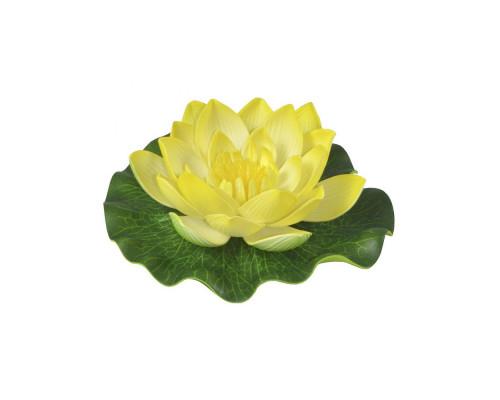 Кувшинка искусственная декоративная, 10 см, желтая