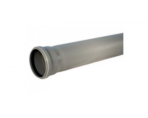 Труба ПВХ серая D110x2,2x1000 мм