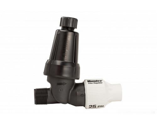 Hunter HFR-075-25 - фильтр с регулятором давления ¾